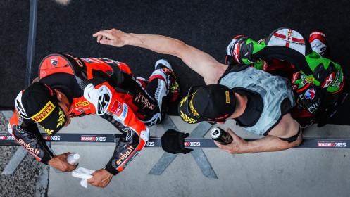 Michael Ruben Rinaldi, Aruba.it Racing - Ducati, Jonathan Rea, Kawasaki Racing Team WorldSBK, Misano Tissot Superpole RACE