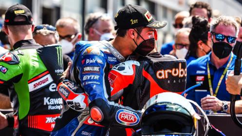 Michael Ruben Rinaldi, Aruba.it Racing - Ducati, Toprak Razgatlioglu, Pata Yamaha with BRIXX WorldSBK, Misano RACE 2