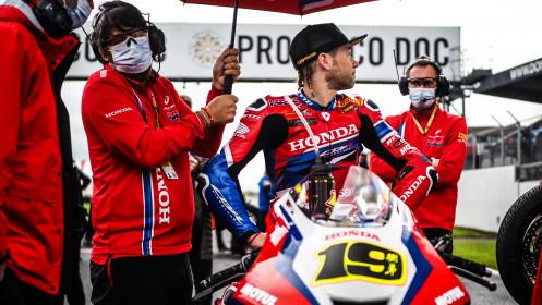 Alvaro Bautista, Team HRC, Donington Tissot Superpole RACE