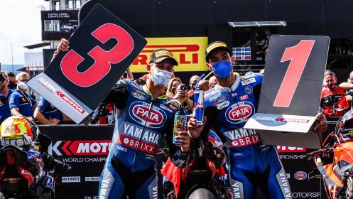 Toprak Razgatlioglu, Andrea Locatelli, Pata Yamaha with BRIXX WorldSBK, Most RACE 1