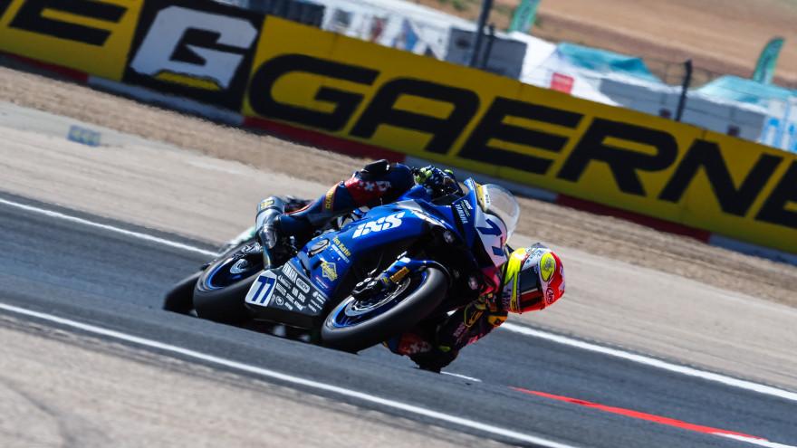 Dominique Aegerter, Ten Kate Racing Yamaha, Navarra FP1