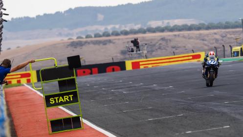 Dominique Aegerter, Ten Kate Racing Yamaha, Navarra Tissot Superpole