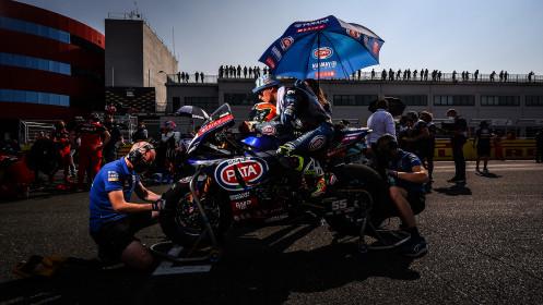 Andrea Locatelli, Pata Yamaha with Brixx WorldSBK, Navarra Tissot Superpole RACE