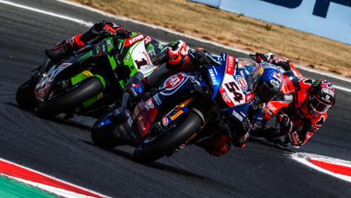 Toprak Razgatlioglu, Pata Yamaha with Brixx WorldSBK, Jonathan Rea, Kawasaki Racing Team WorldSBK, Navarra RACE 2
