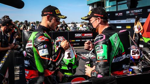 Jonathan Rea, Alex Lowes, Kawasaki Racing Team WorldSBK, Magny-Cours Tissot Superpole RACE