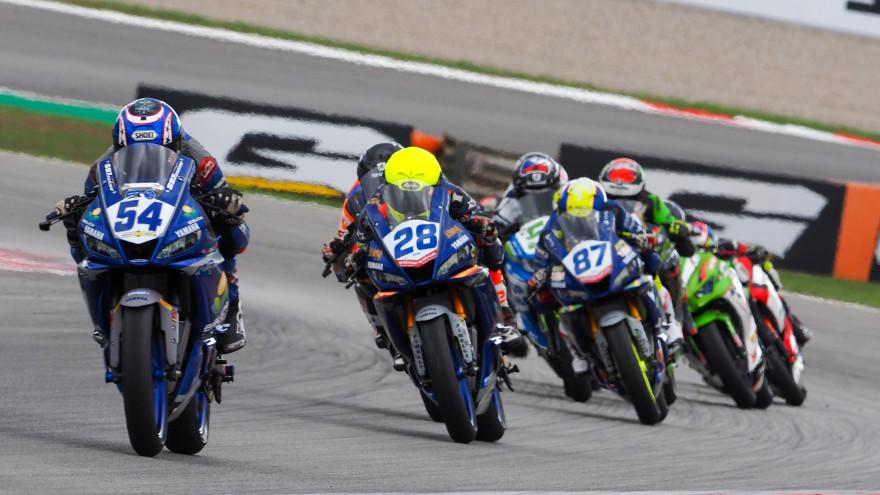 Bahattin Sofuoglu, Biblion Motoxracing Yamaha WSSP300, Catalunya RACE 1