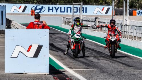 Leandro Mercado, MIE Racing Honda Racing, Michael Ruben Rinaldi, Aruba.it Racing - Ducati, Catalunya RACE 2
