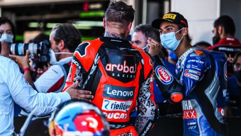 Scott Redding, Aruba.it Racing - Ducati, Toprak Razgatlioglu, Pata Yamaha with Brixx WorldSBK, Catalunya RACE 2
